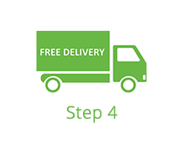 Step 4 - Free delivery